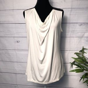 Banana Republic Leather Shoulder Drape Tank - L
